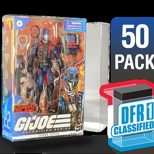 50 Pack Deflector Box CLASSIFIED GI JOE Series FigureShield - DFR-1