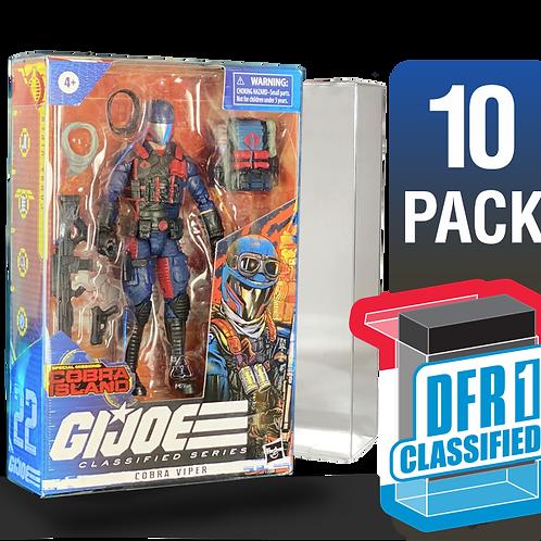 10 Pack Deflector Box CLASSIFIED GI JOE Series FigureShield - DFR-1