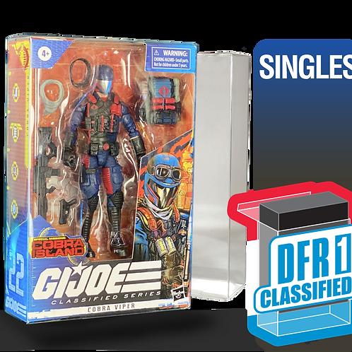 Single Deflector Box CLASSIFIED GI JOE Series FigureShield - DFR-1