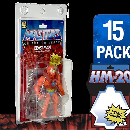 HM-20 FigureShield Clamshell - 15 Pack