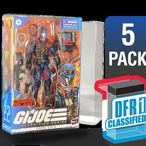 5 Pack Deflector Box CLASSIFIED GI JOE Series FigureShield - DFR-1