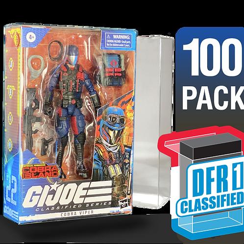 100 Pack Deflector Box CLASSIFIED GI JOE Series FigureShield - DFR-1