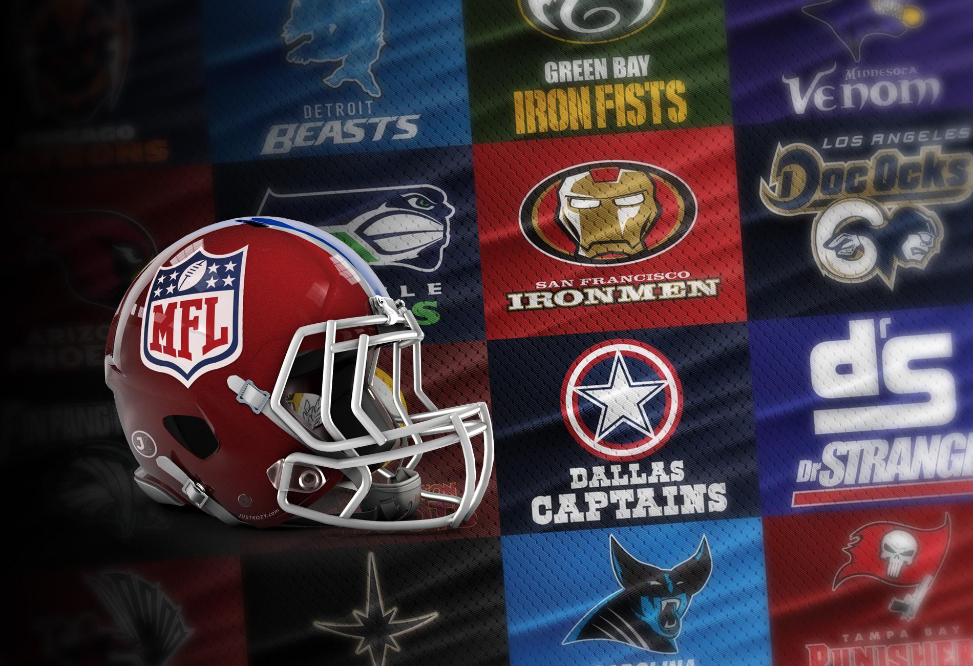 Marvel NFL Helmets - MFL