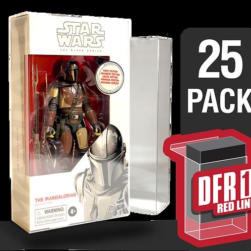25 Pack Deflector Box Red Line Star Wars Black Series FigureShield - DFR-1