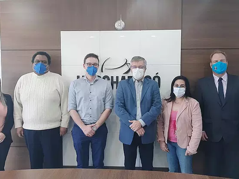 Shriners Clube de Santa Catarina coordena encontro de parceria entre Unochapecó e OnG Hacking Healt