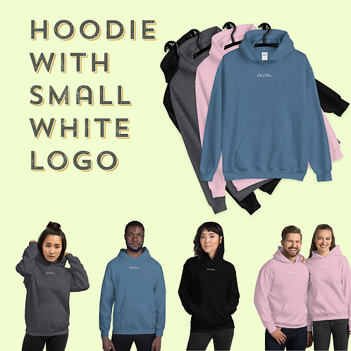 Unisex Hoodie with small Logo - in 4 colours