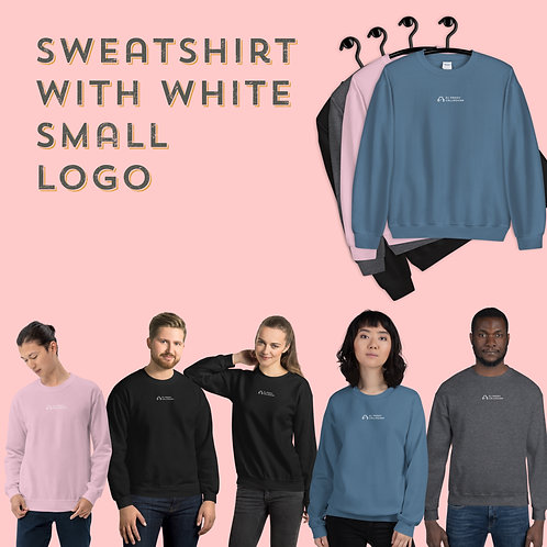 Unisex Sweatshirt with small logo in 4 colours