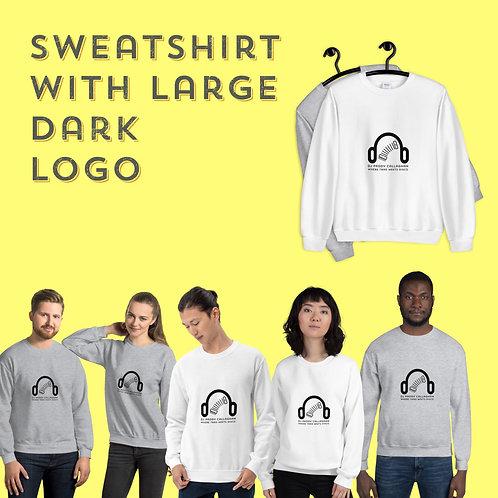 Unisex Sweatshirt with Large dark logo
