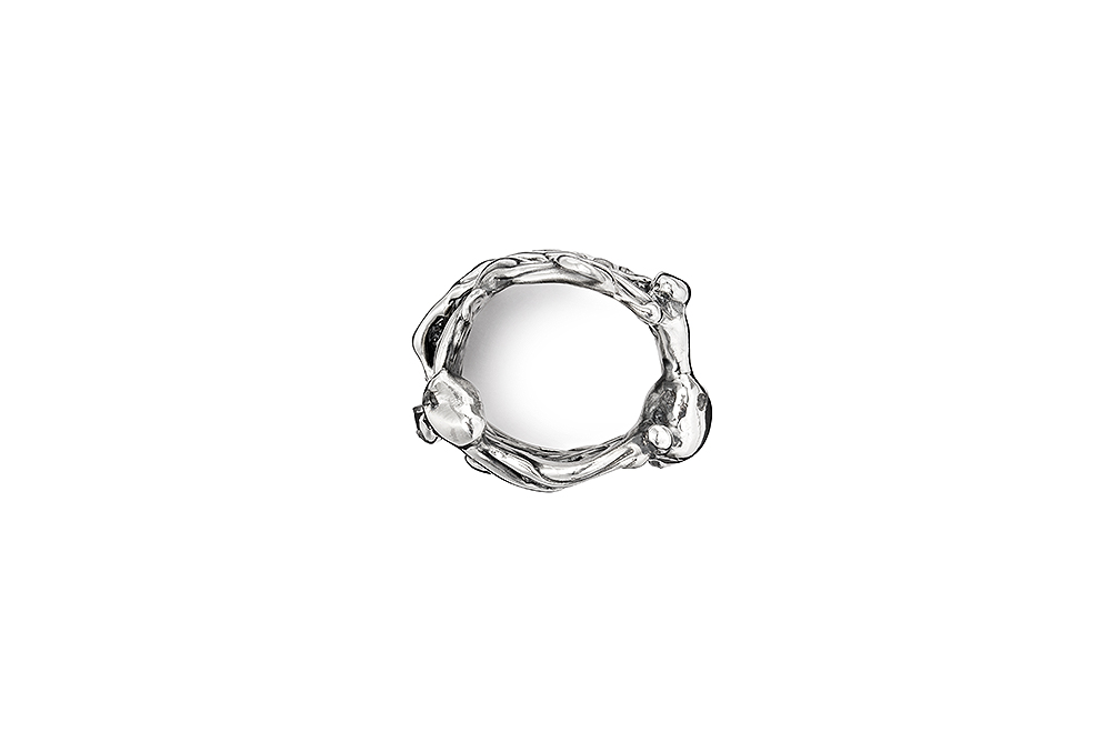 J'Ouvert Ring with Rough Diamonds