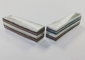 Bars of fused copper, silver and gilding metal
