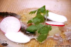 סביצ'ה דג, יוגורט יוזו וצנונית