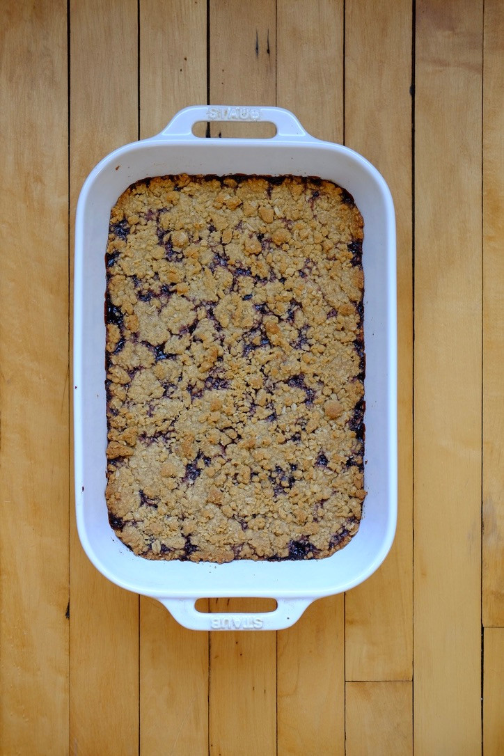 blackberry oatmeal bars