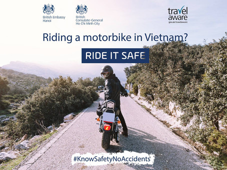 Launch event for motorbike safety in Vietnam - 27th September
