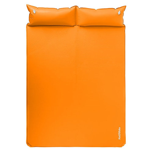 Self inflating double mattress