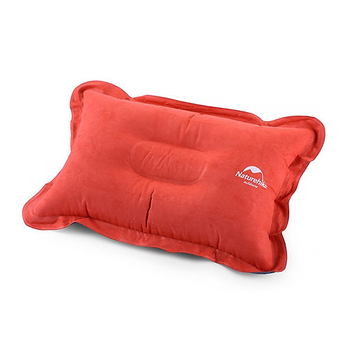Inflatable suede pillow