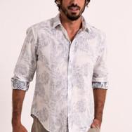 Floral white full sleeve shirt