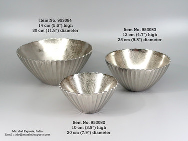 Ribbed Round Tapering Bowls