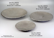 Ribbed Round Flat Platters