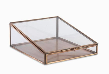 Glass Box with wooden rim