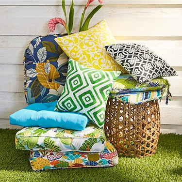 Colorful Printed Outdoor Pillows