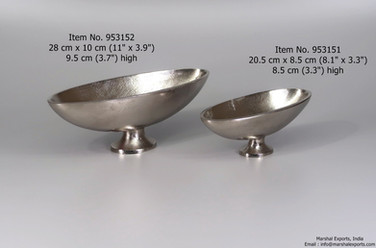 Oval Small Footed Bowls, 2 sizes