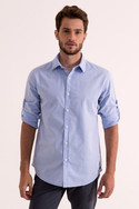 Plain blue full sleeve shirt