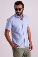 Sky blue half sleeve shirt