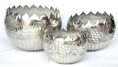 Round shaped bowl set, 3 pcs