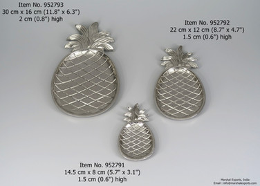 Pineapple Plates, 3 sizes