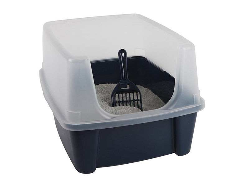 Open litter pans/ with high sides