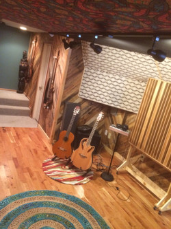 sound panels guitars and stairs