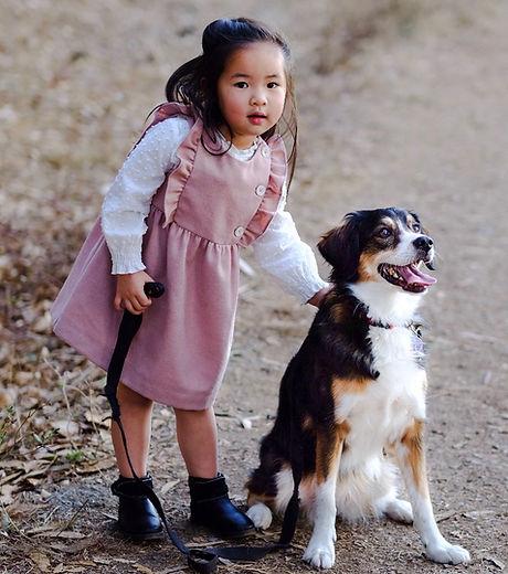 My daughter, Mina, and our dog, Musubi!