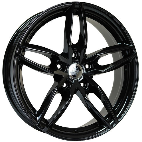 "Wolfhart Origin 18"" Gloss Black Wheel and Tyre Package"