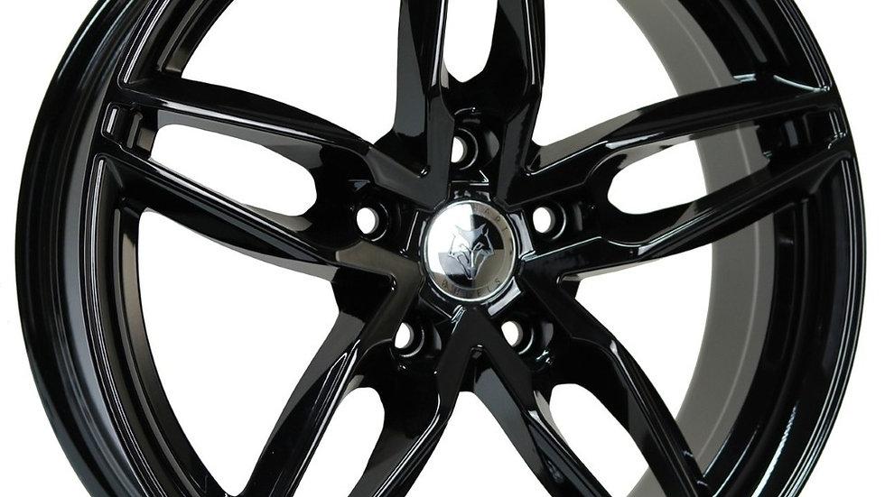 "Wolfhart Origin 18"" Gloss Black Wheel and Tyre Package"