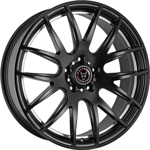 Wolfrace Munich Satin Black Polished Undercut Wheel and Tyre Package