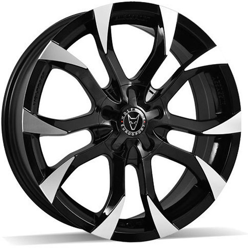 Wolfrace Eurosport Assassin Gloss Black Polished Wheel and Tyre Package