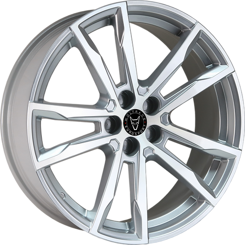 "Wolfrace Eurosport Dortmund 20"" Silver Polished Wheel and Tyre Package"
