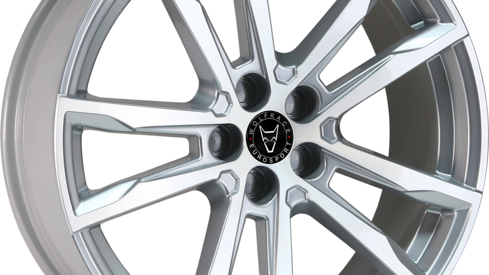 """Wolfrace Eurosport Dortmund 20"""" Silver Polished Wheel and Tyre Package"""