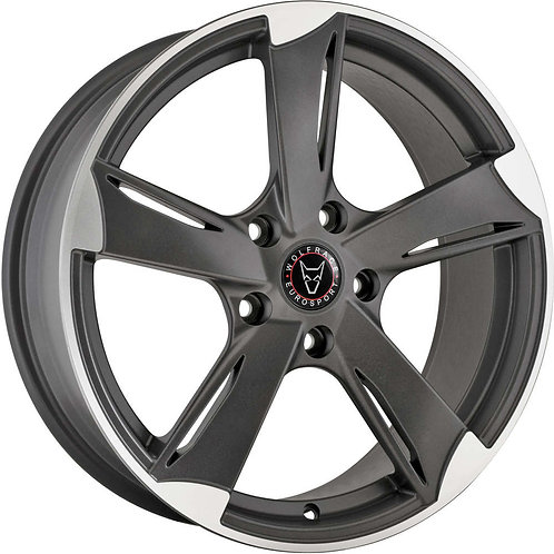Wolfrace Eurosport Genesis Satin Gunmetal Polished Wheel and Tyre Package