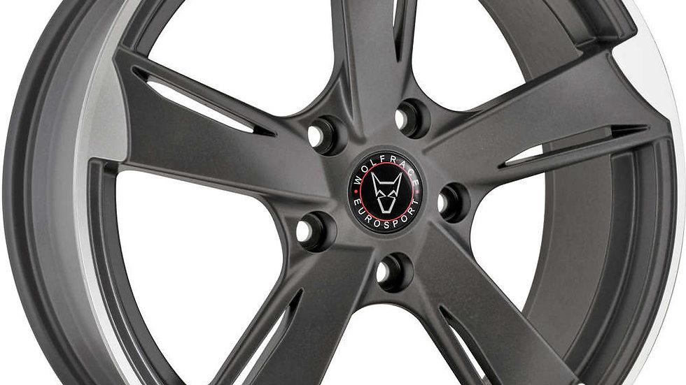 Wolfrace Eurosport Genesis Satin Gunmetal Polished Wheel and Tyre Package