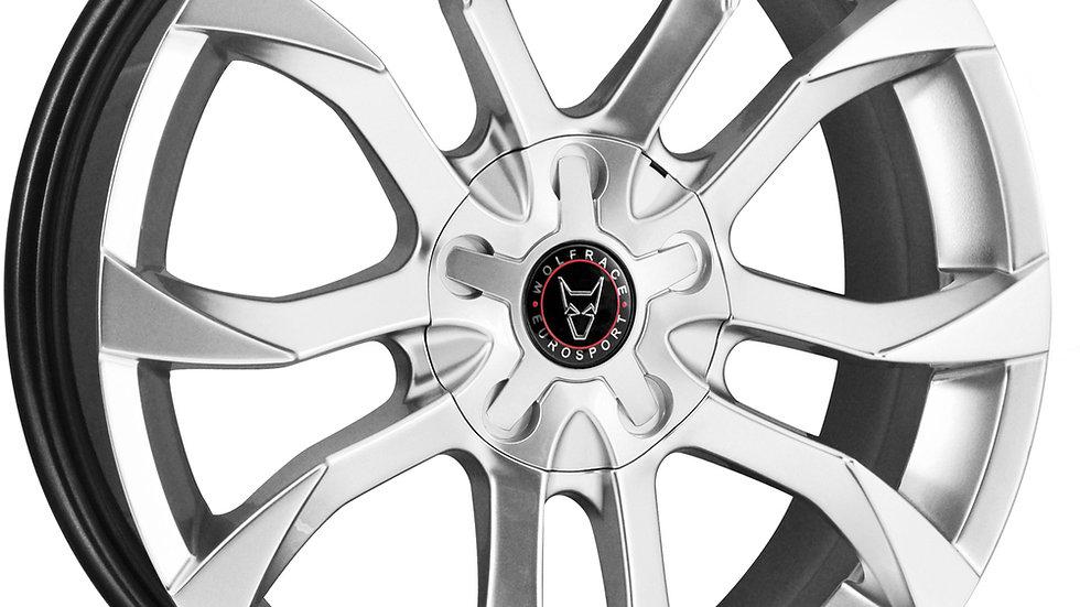 "Wolfrace Eurosport Assassin 18"" Hyper Silver Wheel and Tyre Package"