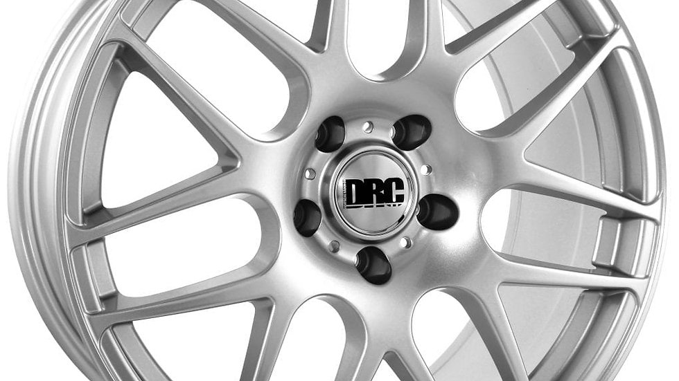 """DRC DRM 18"""" Silver Wheel and Tyre Package"""