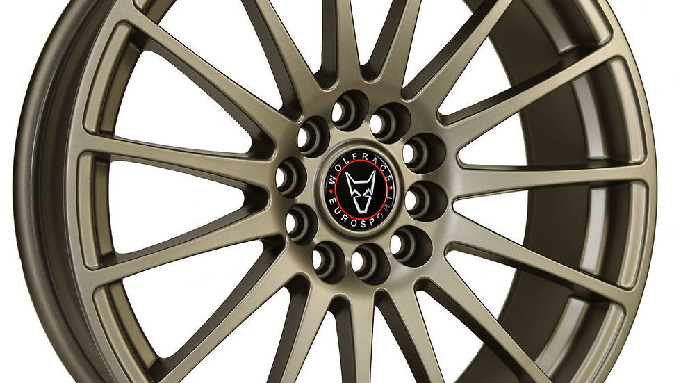 """Wolfrace Eurosport Turismo 18"""" Bronze Wheel and Tyre Package"""