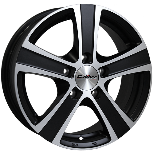 "Calibre Highway 18"" Matte Black Polished Wheel and Tyre Package"