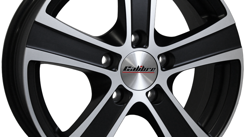 """Calibre Highway 18"""" Matte Black Polished Wheel and Tyre Package"""