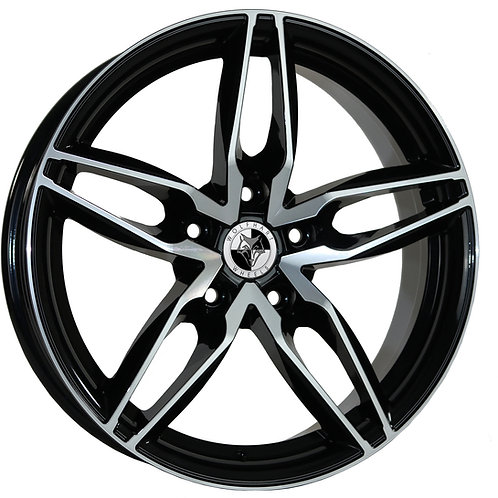 """Wolfhart Origin 18"""" Gloss Black Polished Wheel and Tyre Package"""