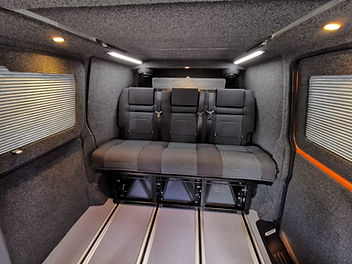 The Uber Flux is a modified version of the standard RIB bed. The Uber Flux is able to slide backwards and forwards on a set of rails covering the length of the van, with the capability to lock in place at any position making it extemely versatile. With the RIB bed locked directly behind the front seats you are able to gain an extra 1.5m (SWB) or 1.9m (LWB) boot space; making it much easier to store and transport all of your gear.