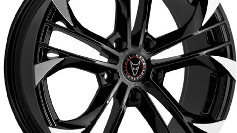"Wolfrace Eurosport Assassin GT 18"" Gloss Black Polished Wheel and Tyre Package"