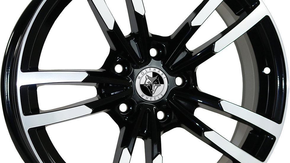 """Wolfhart Primus 18"""" Gloss Black Polished Wheel and Tyre Package"""