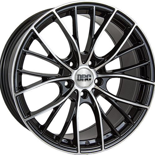 "DRC DMM 19"" Black Polished Wheel and Tyre Package"